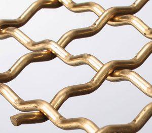 bronze pre-crimped weaved wire