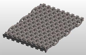 broad mesh twilled weave micronic mesh