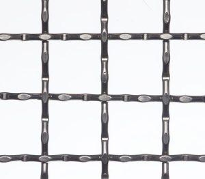 Intermediate crimped wire meshing