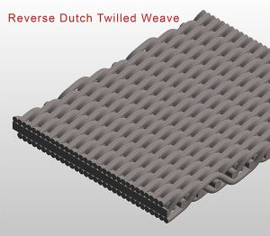 reverse dutch twilled weave
