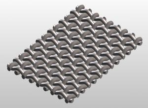 square plain weave mesh