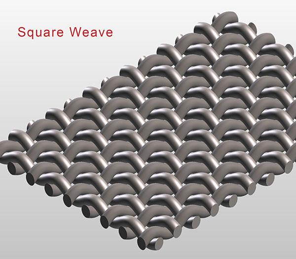 Square weave micronic mesh