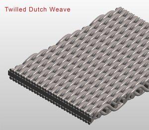 Twilled dutch weave