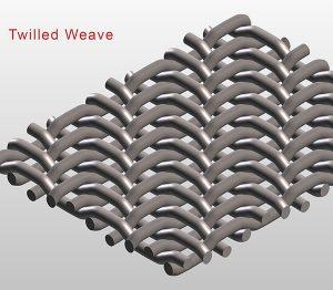 Twilled weave micronic meshing