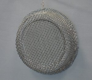 Crimped wire weave bowl strainer