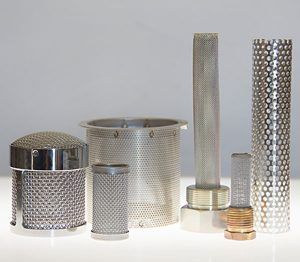 Strainers of various sizes and shapes
