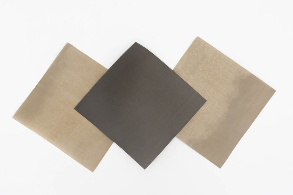 neutral colored acoustic mesh cloth