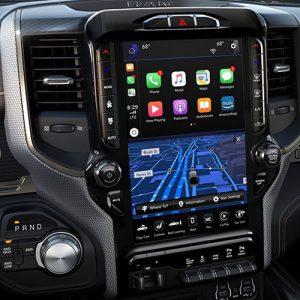 automotive entertainment system inside a car