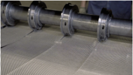 Slitting mesh or wire processes