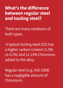 Difference between regular and tooling steel
